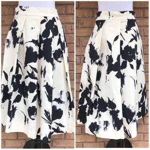 Zara Woman Floral Midi Skirt size M